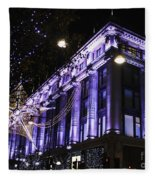 Selfridges London At Christmas Time Fleece Blanket