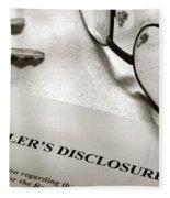 Seller Property Disclosure Fleece Blanket