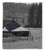Selma Barn Scene Fleece Blanket
