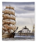 Semi-ah-moo Lighthouse Fleece Blanket