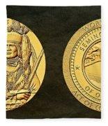 Seminole Nation Code Talkers Bronze Medal Art Fleece Blanket