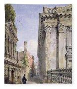 Senate House Passage, Cambridge, 1843 Fleece Blanket