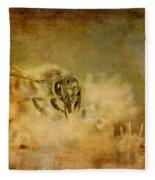 Send The Bees Love Fleece Blanket