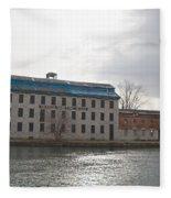 Seneca Falls Knitting Mill Fleece Blanket
