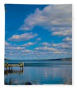 Seneca Lake At Glenora Point Fleece Blanket