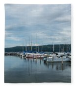 Seneca Lake Harbor - Watkins Glen - Wide Angle Fleece Blanket