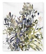Senecio And Other Plants Fleece Blanket