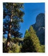 Sentinel Dome, Yosemite Np Fleece Blanket