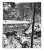 Sentinel Pine Covered Bridge - Franconia Notch State Park New Hampshire Usa Fleece Blanket