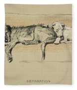 Separation, 1930, 1st Edition Fleece Blanket