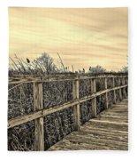 Sepia Boardwalk Fleece Blanket