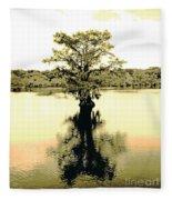 Sepia Cypress Chicot Sp Louisiana Fleece Blanket