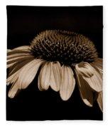 Sepia Daisy Fleece Blanket