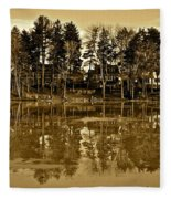 Sepia Reflection Fleece Blanket