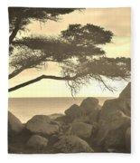 Sepia Seaview Fleece Blanket