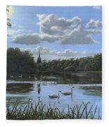 September Afternoon In Clumber Park Fleece Blanket
