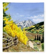 September Gold Fleece Blanket