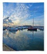 September Morning At Lyme Regis Fleece Blanket