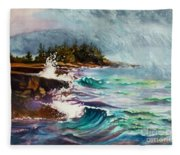 September Storm Lake Superior Fleece Blanket