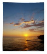 September Sunday Sunset  Fleece Blanket