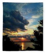 September Sunset Fleece Blanket