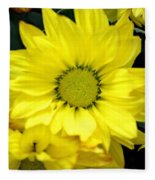 September Yellow Fleece Blanket