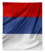 Serbian Flag Fleece Blanket