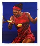 Serena Williams Painting Fleece Blanket