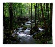 Serene Greenbrier Area Stream  Fleece Blanket