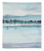 Serene Lake View Fleece Blanket