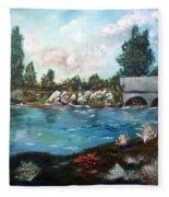Serene River Fleece Blanket