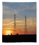 Serene Setting Fleece Blanket