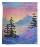 Serene Sunset Fleece Blanket