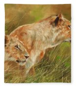 Serengeti Sisters Fleece Blanket