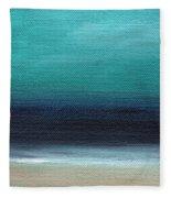 Serenity- Abstract Landscape Fleece Blanket