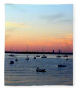 Serenity At The Bay Fleece Blanket