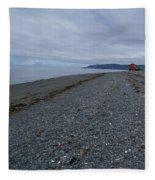 Serenity At The Beach Fleece Blanket