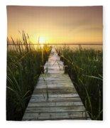 Serenity At The Lake Fleece Blanket