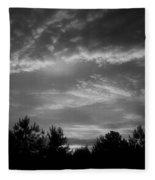 Serenity - Bw Fleece Blanket