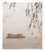Serenity In Sepia Fleece Blanket