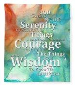 Serenity Prayer 1 - By Sharon Cummings Fleece Blanket