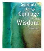 Serenity Prayer 2 - By Sharon Cummings Fleece Blanket