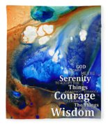 Serenity Prayer 4 - By Sharon Cummings Fleece Blanket