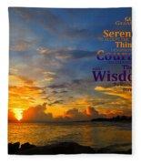Serenity Prayer Sunset By Sharon Cummings Fleece Blanket