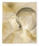 Series Abstract Art In Earth Tones 3 Fleece Blanket
