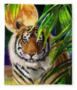 Second In The Big Cat Series - Tiger Fleece Blanket