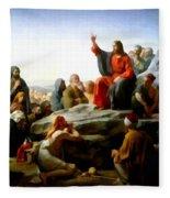 Sermon On The Mount Watercolor Fleece Blanket