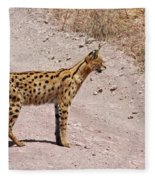 Serval Cat Fleece Blanket