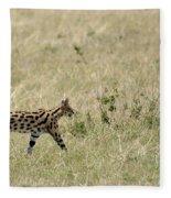 Serval Hunting Fleece Blanket