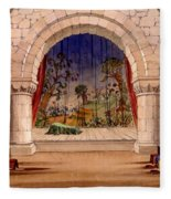 Set Design For Hamlet By William Fleece Blanket